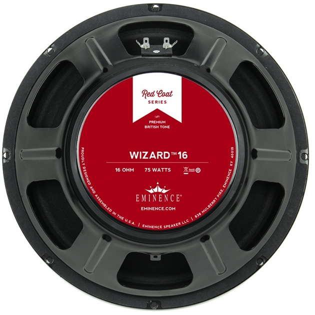 eminence the wizard 8ohm 12 75watt redcoat guitar speaker. Black Bedroom Furniture Sets. Home Design Ideas