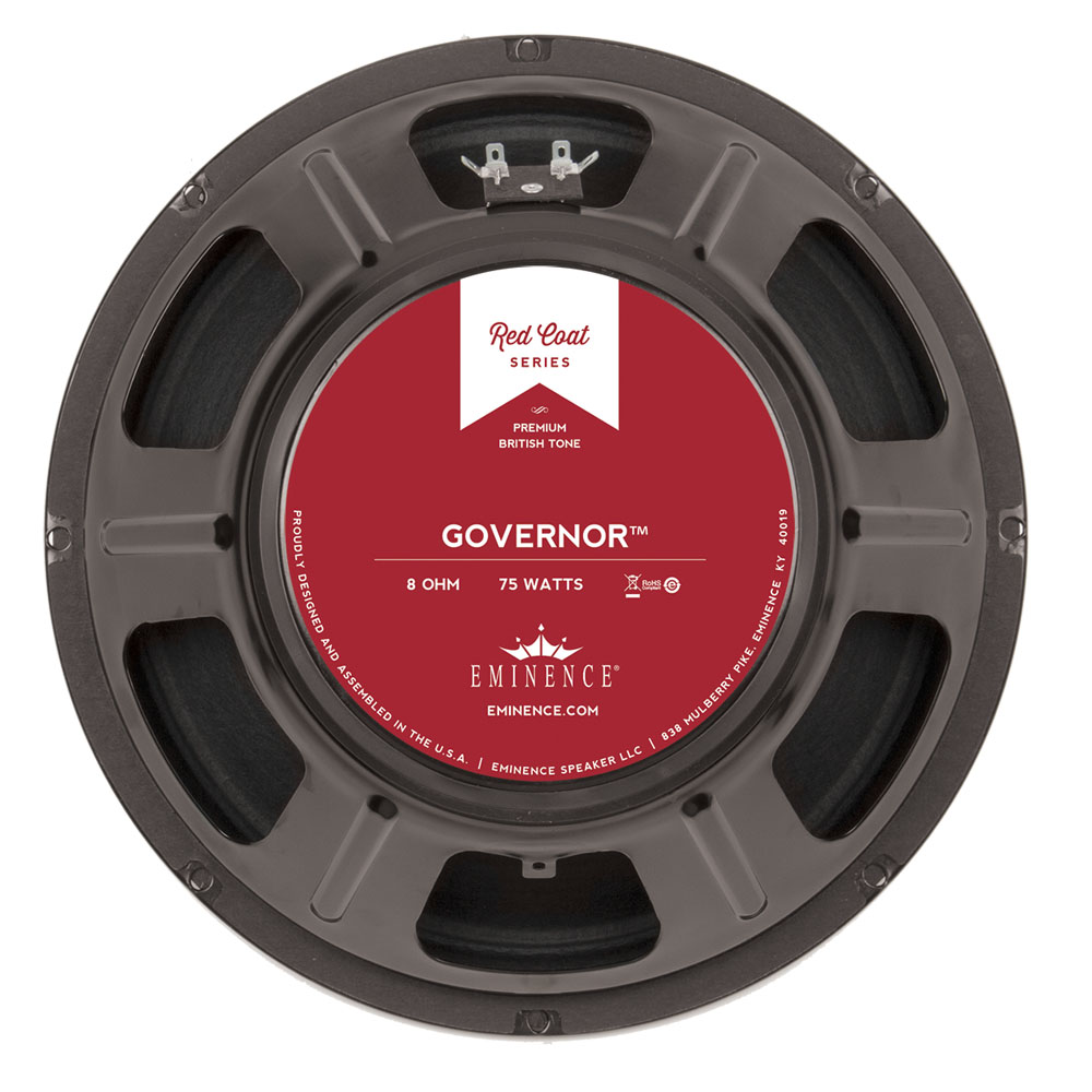 eminence the governor 8ohm 12 75watt redcoat guitar speaker. Black Bedroom Furniture Sets. Home Design Ideas